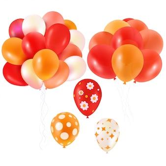 Leuchtend orangefarbene luftballons