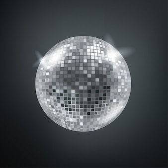 Leuchtende disco-kugel.