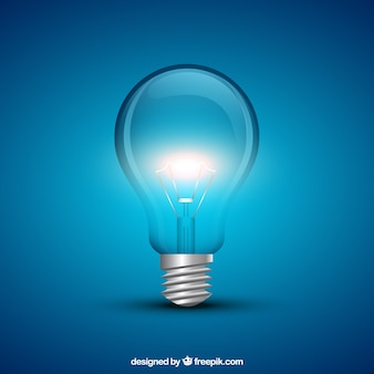 Leuchtende glühbirne