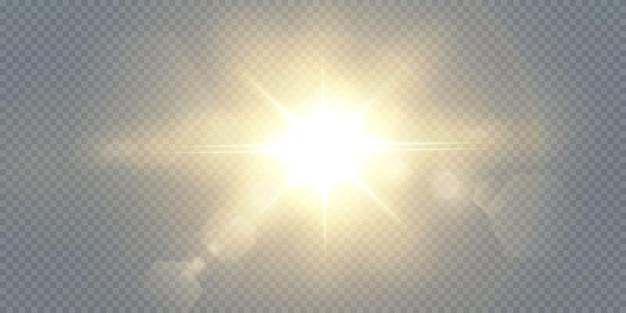 Leuchtende goldene sterne lokalisiert auf schwarzem hintergrund