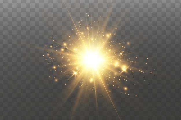 Leuchtende goldene sterne.