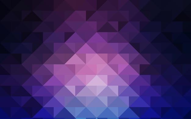 Leuchtende illustration, die aus dreiecken besteht