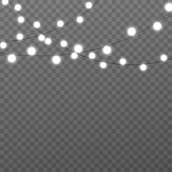 Leuchtende lichter für weihnachtskarten