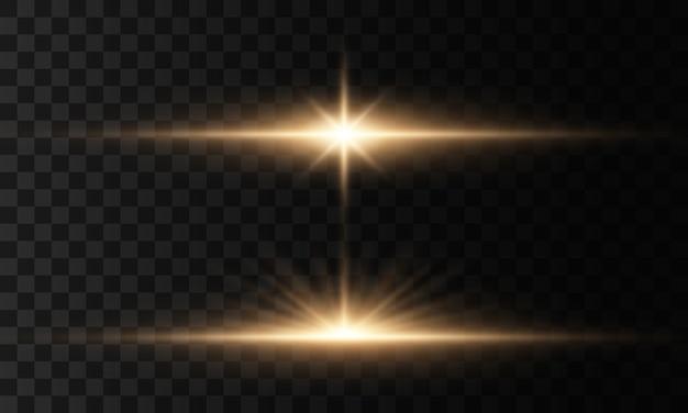 Leuchtende lichter, sterne. funkelnde magische staubpartikel