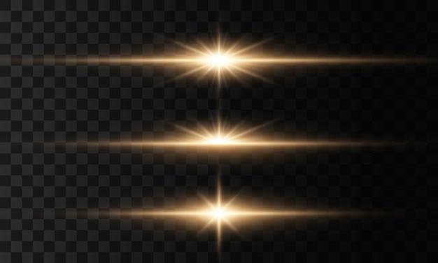 Leuchtende lichter und sterne. licht explodiert, funkelt.