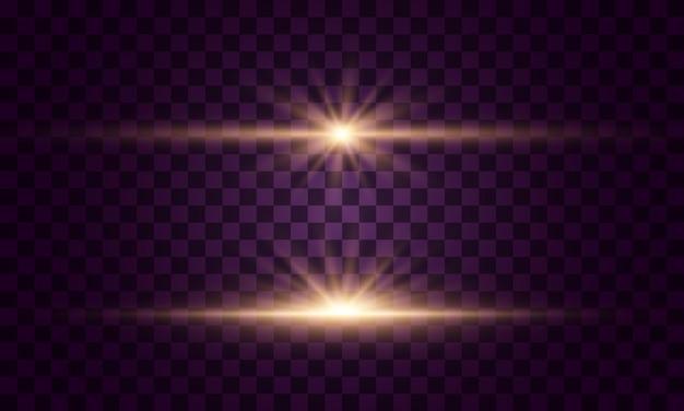 Leuchtende lichter und sterne.