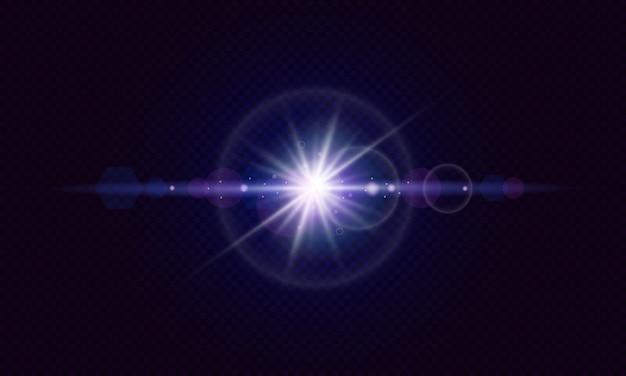 Leuchtende linseneffekte