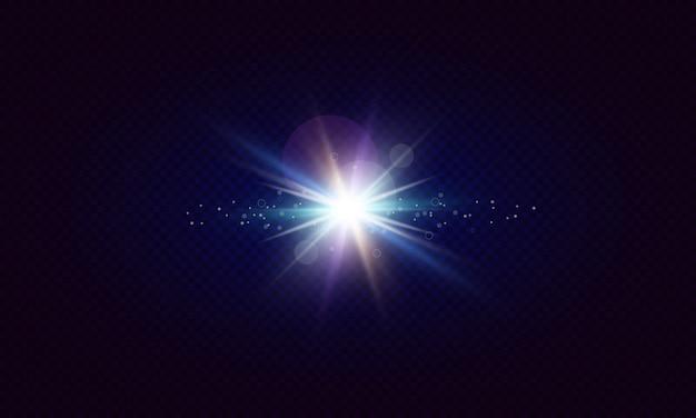 Leuchtende linseneffekte.