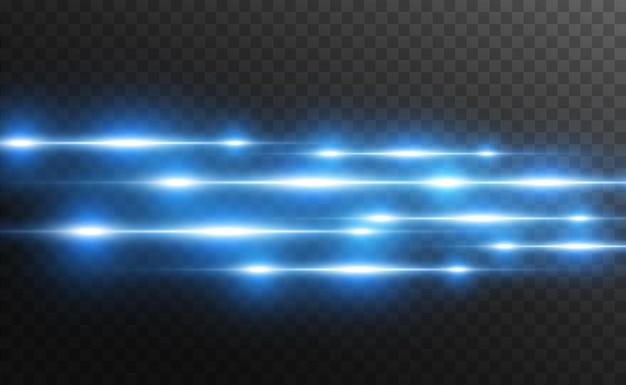 Leuchtende neonlinien auf transparentem hintergrund abstraktes digitales design