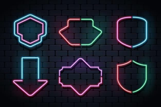 Leuchtende neonrahmenkollektion