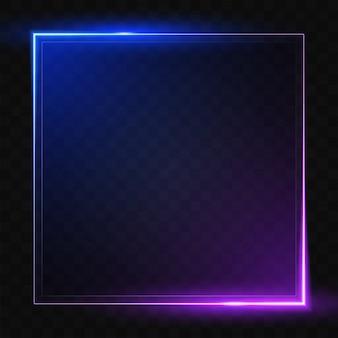Leuchtende quadratische linie.