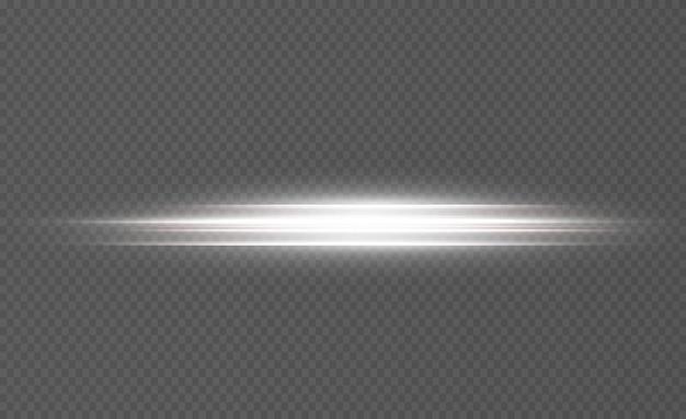 Leuchtende weiße linien von geschwindigkeitslicht glühender effekt abstrakte bewegungslinien lichtspurwelle