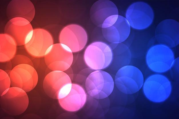 Leuchtender bokeh glänzender hintergrund mit großer kreisform