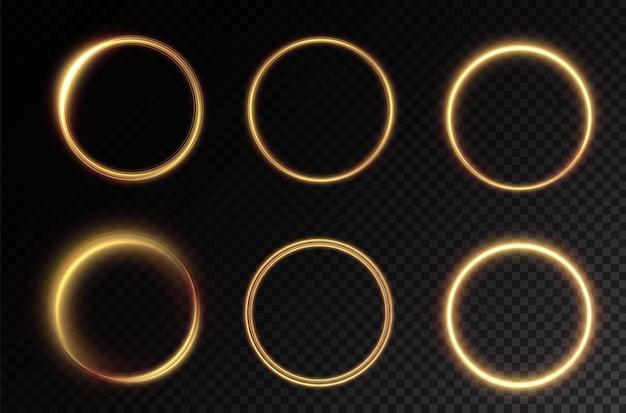 Leuchtender goldener kreis png leichter goldener podest-podest-plattformtisch vektor png