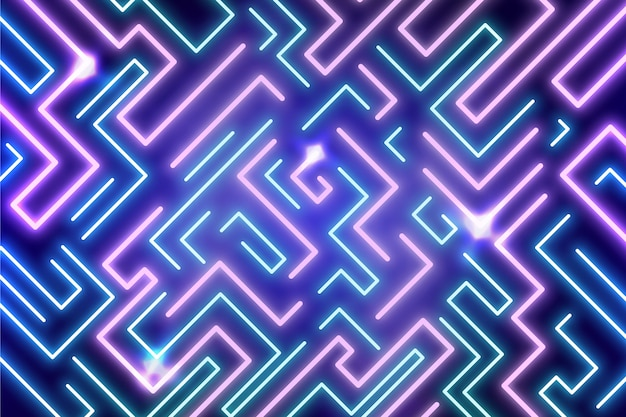 Leuchtender hintergrund des neonlichts
