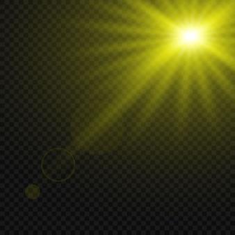 Leuchtender lichteffekt isoliert