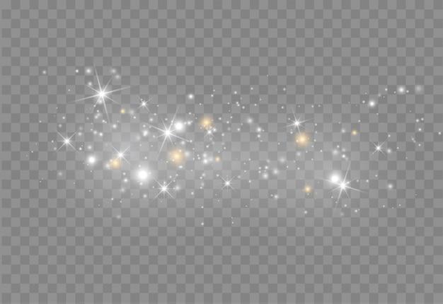 Leuchtender lichteffekt mit glitzer.