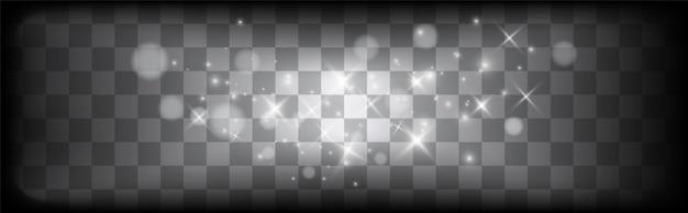 Leuchtender lichteffekt mit vielen glitzerpartikeln