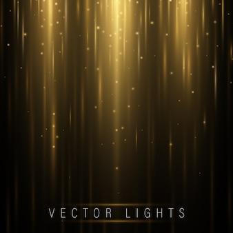 Leuchtender magischer lichteffekt