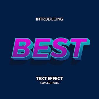 Leuchtender moderner 3d-farbverlauf neonfarbe bearbeitbarer text