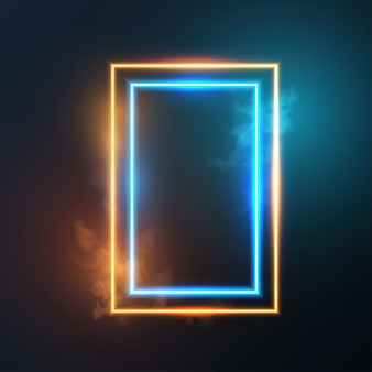 Leuchtender neonlichtrahmen