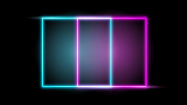 Leuchtender neonrahmen. gestaltungselement