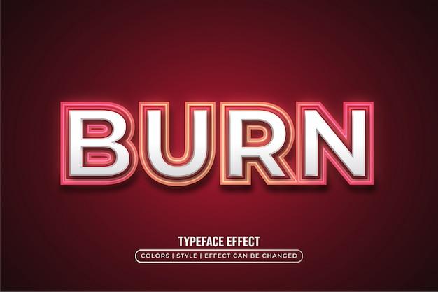 Leuchtender roter neon-textstil-effekt