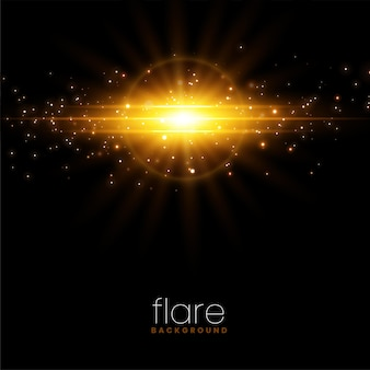 Leuchtender sparkle burst lens flare-effekt