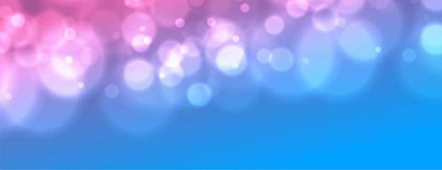 Leuchtendes banner mit farbverlauf und bokeh-effekt