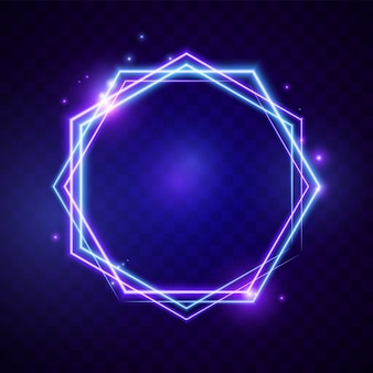 Leuchtendes licht sechseck banner