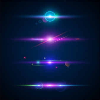 Leuchtendes lichteffektset.
