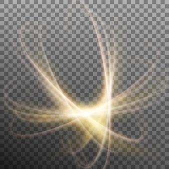 Leuchtendes nuklearmodell. transparenter hintergrund nur in