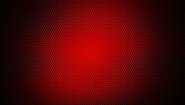Leuchtendes rotes licht auf kohlefaserhintergrund