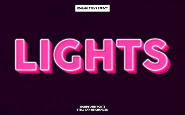 Leuchtet den bearbeitbaren texteffekt