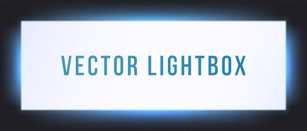 Leuchtkasten-zeichenfeldmodell. beleuchtete beschilderung beschilderung lichtbox schild