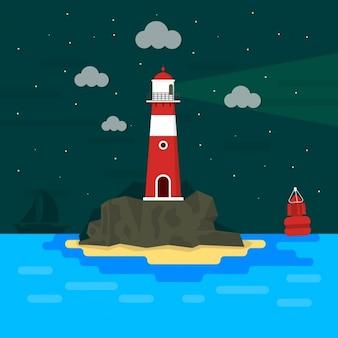 Leuchtturm hintergrund-design