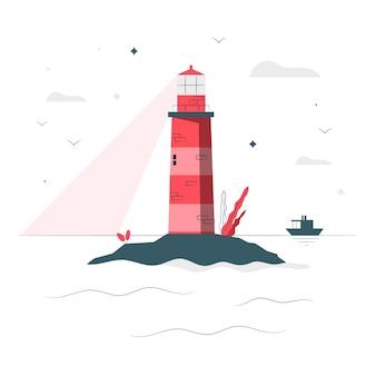Leuchtturm konzept illustration