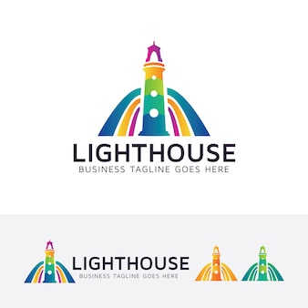 Leuchtturm kunst vektor logo vorlage