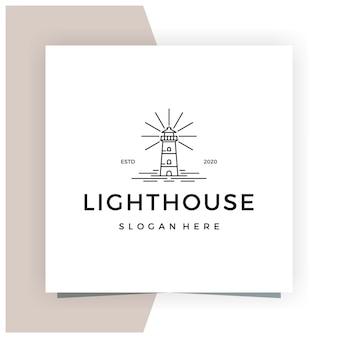 Leuchtturm linie umriss monoline logo design inspiration