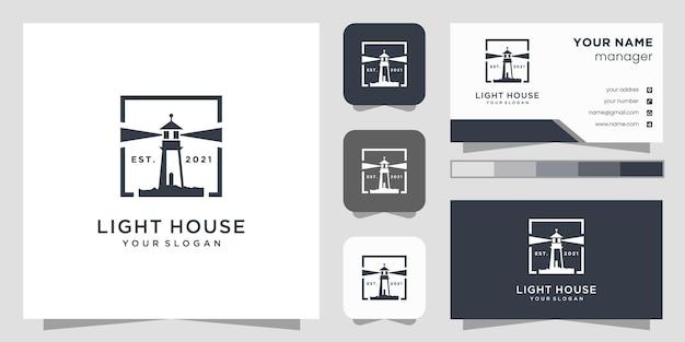Leuchtturm-logo und visitenkarte.