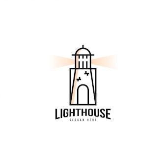 Leuchtturm-logo-vorlage