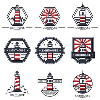 Leuchtturm-logo-vorlagen