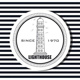 Leuchtturm sea life icon design