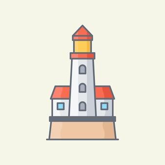 Leuchtturm-vektor-illustration