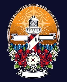 Leuchtturm-vektor