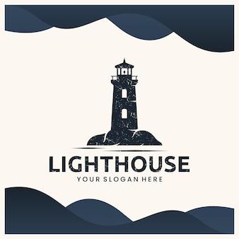 Leuchtturm-vorlage, inspiration für das logo-design