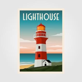 Leuchtturmplakatillustrationsdesign
