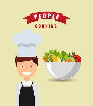 Leute, die design kochen