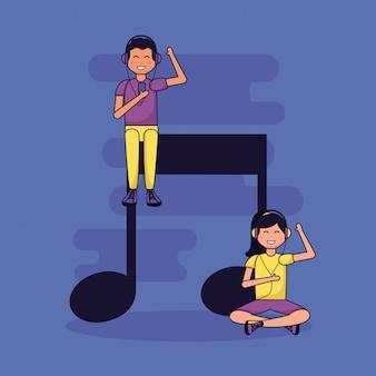 Leute, die musik hören