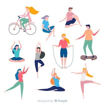 Leute, die sport treiben